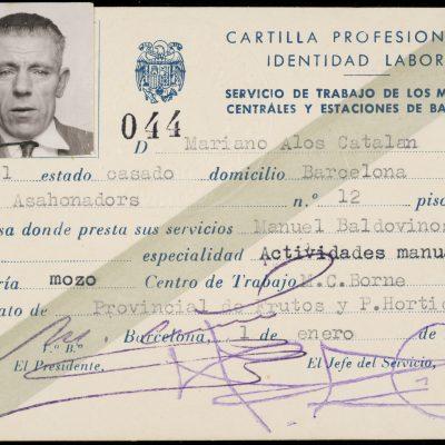 Documentació professional del treballador Mariano Alòs