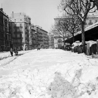 La nevada de 1962 al carrer Comerç