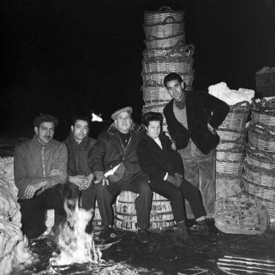 Treballadors durant la nevada de 1962