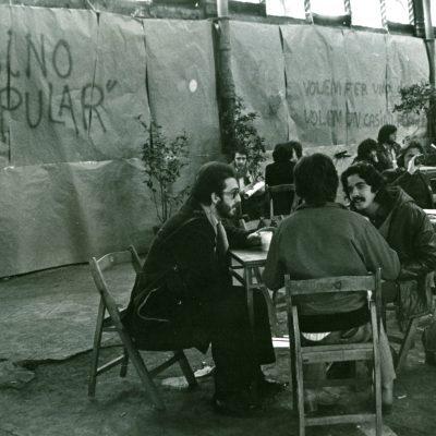 Zona del cafè-casino durant la jornada de reivindicació del Born com Ateneu popular