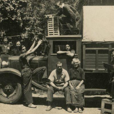retrat de família al camió