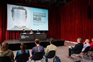 Roda de premsa de presentació de 'Paradigma Mur'