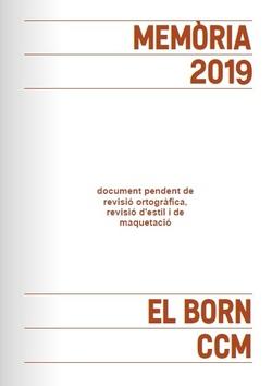 Memòria El Born CCM 2019